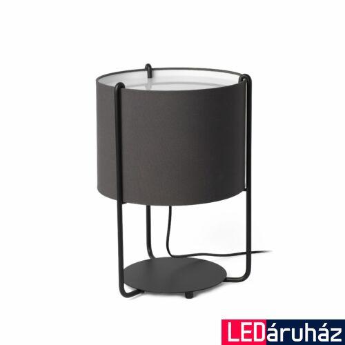 FARO DRUM asztali lámpa, bura nélkül, fekete, E27 foglalattal, IP20, 24020