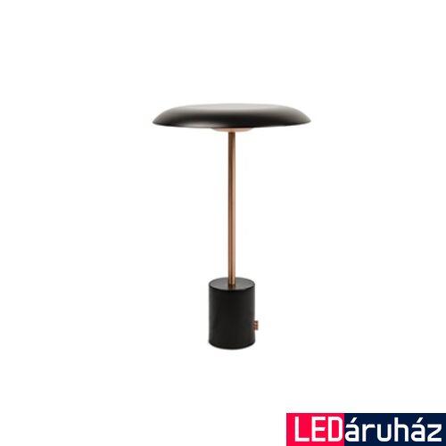 FARO HOSHI asztali lámpa, hordozható, fényerőszabályozható, fekete, 3000K melegfehér, beépített LED, 4W, IP20, 28389