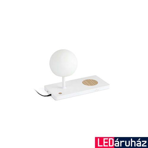 FARO NIKO asztali lámpa, vezeték nélküli töltőpaddal, fehér, 3000K melegfehér, beépített LED, 7W, IP20, 01025