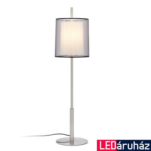 FARO SABA asztali lámpa, nikkel, E27 foglalattal, IP20, 68546