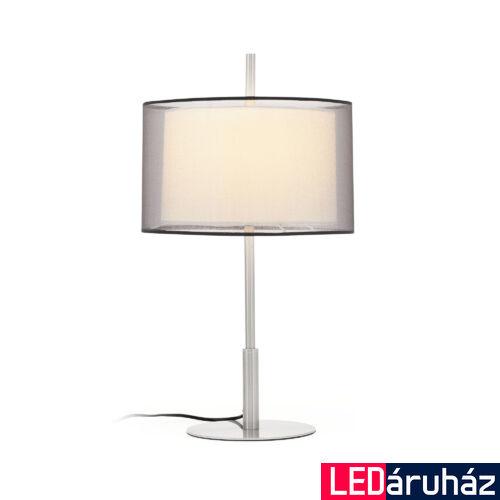FARO SABA asztali lámpa, nikkel, E27 foglalattal, IP20, 68545