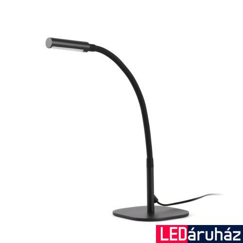 FARO SERP asztali lámpa, fekete, 3000K melegfehér, beépített LED, 4W, IP20, 50065