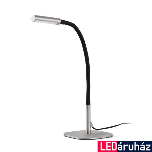 FARO SERP asztali lámpa, nikkel, 3000K melegfehér, beépített LED, 4W, IP20, 50066