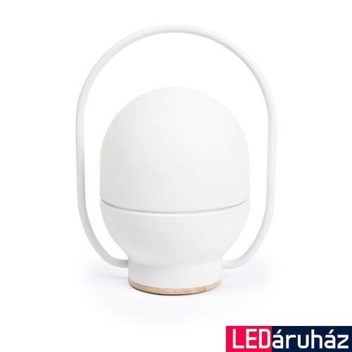FARO TAKE AWAY asztali lámpa, fehér, 3000K melegfehér, fényforrással, 3W, IP20, 01015