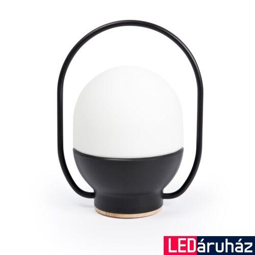FARO TAKE AWAY asztali lámpa, fekete, 3000K melegfehér, beépített LED, 3W, IP20, 01016