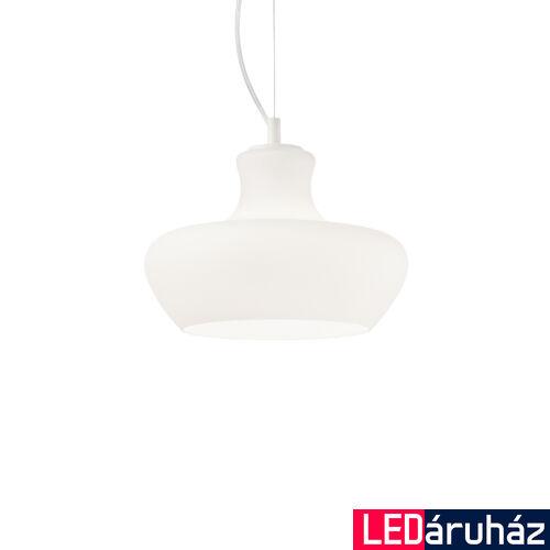 IDEAL LUX ALADINO függesztett lámpa E27 foglalattal, max. 60W, 30 cm átmérő, fehér 137315