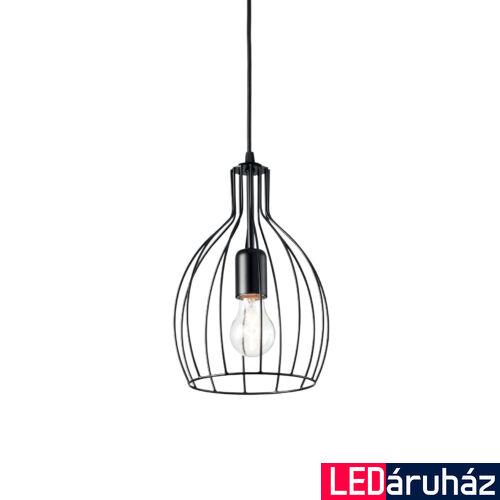 IDEAL LUX AMPOLLA-2 függesztett lámpa E27 foglalattal, max. 60W, 20,5 cm átmérő, fekete 148151