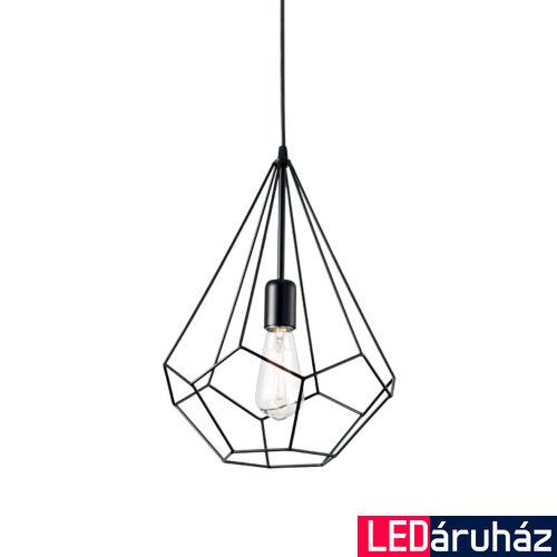 IDEAL LUX AMPOLLA-3 függesztett lámpa E27 foglalattal, max. 60W, 30 cm átmérő, fekete 148175