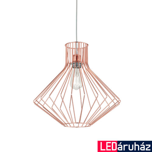 IDEAL LUX AMPOLLA-4 függesztett lámpa E27 foglalattal, max. 60W, 39,5 cm átmérő, réz 167503
