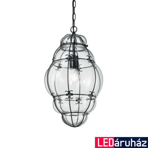 IDEAL LUX ANFORA függesztett lámpa E27 foglalattal, max. 42W, 28 cm átmérő, fekete 131795