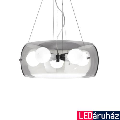 IDEAL LUX AUDI-10 függesztett lámpa 5db E27 foglalattal, max. 5x60W, 48,5 cm átmérő, füst üveg 103983