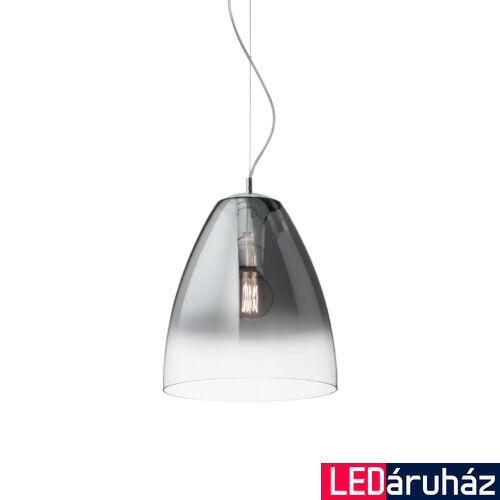 IDEAL LUX AUDI-20 függesztett lámpa E27 foglalattal, max. 60W, 35 cm átmérő, füst üveg 103990