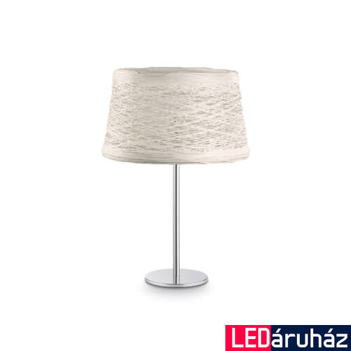 IDEAL LUX BASKET asztali lámpa E27 foglalattal, max. 60W, 34 cm magas, fehér 82387