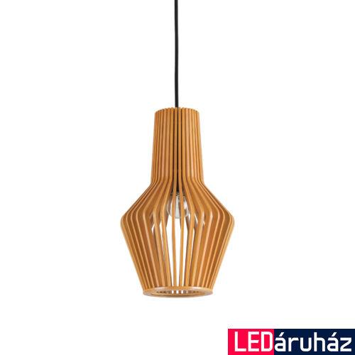 IDEAL LUX CITRUS függesztett lámpa E27 foglalattal, max. 60W, 20 cm átmérő, fa 159843