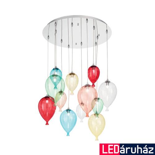 IDEAL LUX CLOWN függesztett lámpa 12 db G9 foglalattal, max. 12x28W, 60 cm átmérő, színes 100951