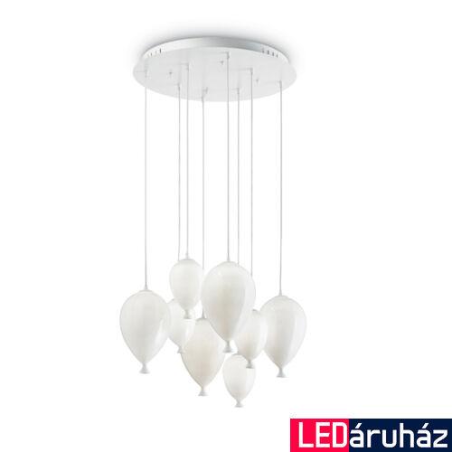 IDEAL LUX CLOWN függesztett lámpa 8 db G9 foglalattal, max. 8x28W, 50 cm átmérő, fehér 100883