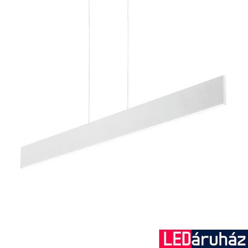 IDEAL LUX DESK függesztett lámpa, beépített LED, 23W, 2100 lm, 3000K melegfehér, 102,5x20 cm, fehér 138237