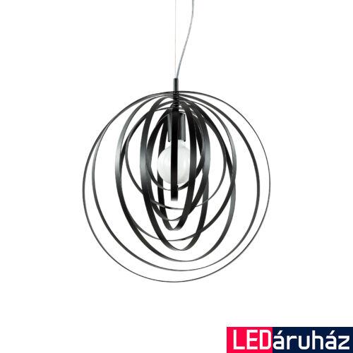 IDEAL LUX DISCO függesztett lámpa E27 foglalattal, max. 60W, 46 cm átmérő, fekete 114262
