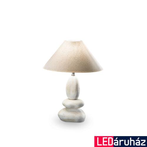 IDEAL LUX DOLOMITI asztali lámpa E27 foglalattal, max. 60W, 33 cm átmérő, fehér 34935