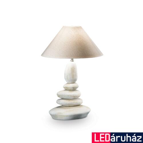 IDEAL LUX DOLOMITI asztali lámpa E27 foglalattal, max. 60W, 38 cm átmérő, fehér 34942