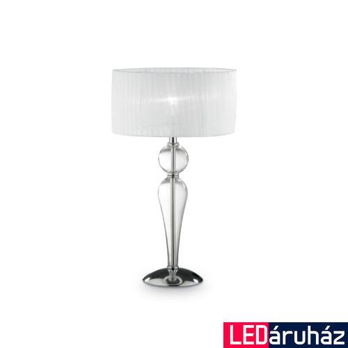 IDEAL LUX DUCHESSA asztali lámpa E27 foglalattal, max. 60W, 64 cm magas, fehér 44491