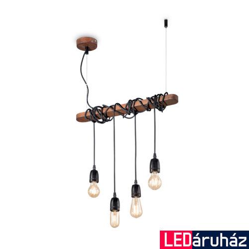 IDEAL LUX ELECTRIC függesztett lámpa 4 db. E27 foglalattal, max. 4x60W, 54 cm hosszú, fekete 176352
