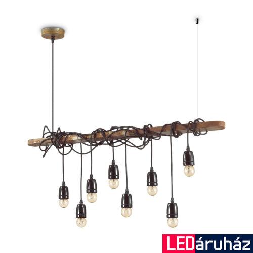 IDEAL LUX ELECTRIC függesztett lámpa 8 db. E27 foglalattal, max. 8x60W, 94 cm hosszú, fekete 176369