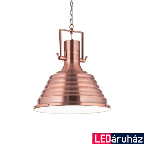 IDEAL LUX FISHERMAN függesztett lámpa E27 foglalattal, max. 60W, 48,5 cm átmérő, réz 134871