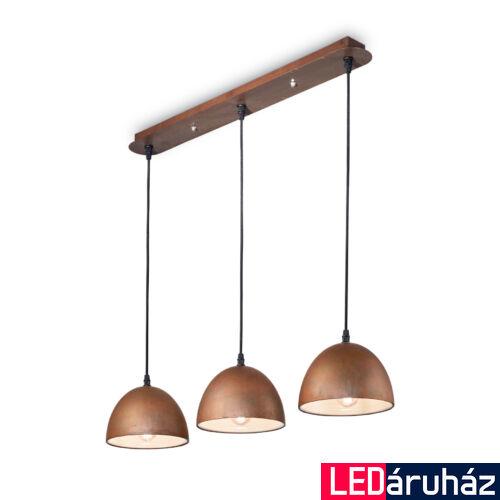 IDEAL LUX FOLK függesztett lámpa E27 foglalattal, max. 60W, 72 cm hosszú, rozsda 174235