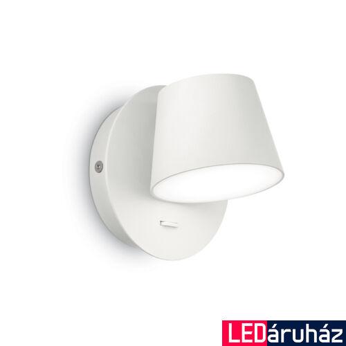 IDEAL LUX GIM fali lámpa, beépített LED, 6W, 530 lm, 3000K melegfehér, 12x12 cm, fehér 167152