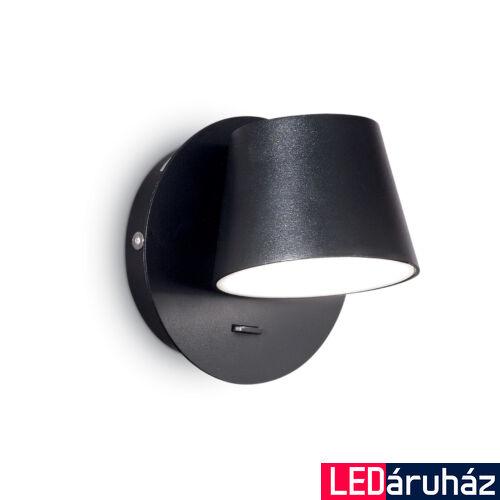 IDEAL LUX GIM fali lámpa, beépített LED, 6W, 530 lm, 3000K melegfehér, 12x12 cm, fekete 167121