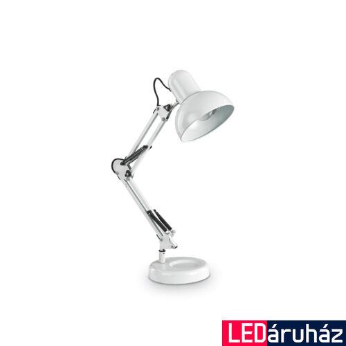 IDEAL LUX KELLY asztali lámpa E27 foglalattal, max. 42W, 15,5 cm átmérő, állítható magasság, fehér 108117