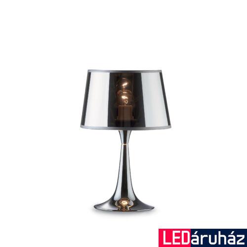 IDEAL LUX LONDON asztali lámpa E27 foglalattal, max. 60W, 36,5 cm magas, króm 32368