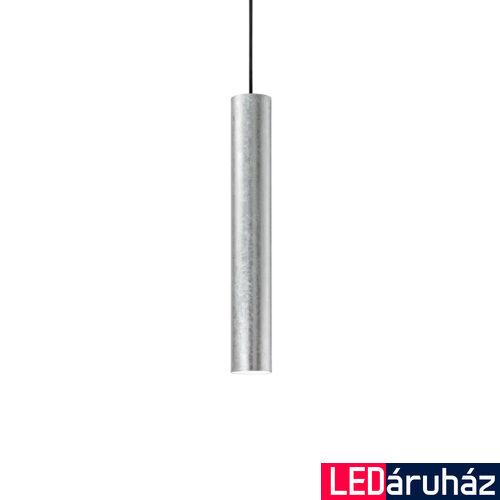 IDEAL LUX LOOK függesztett lámpa GU10 foglalattal, max. 50W, 6 cm átmérő, ezüst 141800