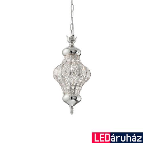 IDEAL LUX NAWA-3 függesztett lámpa E27 foglalattal, max. 60W, 18,5 cm átmérő, ezüst 140827
