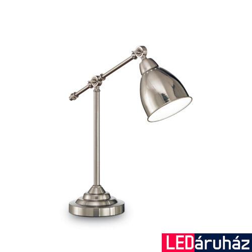 IDEAL LUX NEWTON asztali lámpa E27 foglalattal, max. 60W, 55 cm magas, nikkel 12209