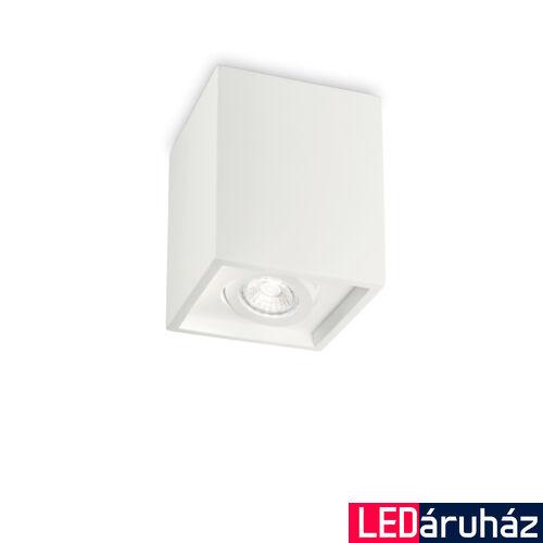 IDEAL LUX OAK gipsz mennynezeti lámpa GU10 foglalattal, max. 35W, 13,5x13,5 cm, fehér 150468