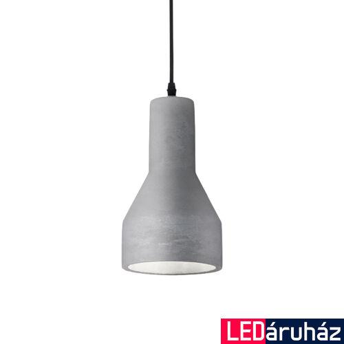 IDEAL LUX OIL-1 beton függesztett lámpa E27 foglalattal, max. 15W, 15 cm átmérő, szürke 110417