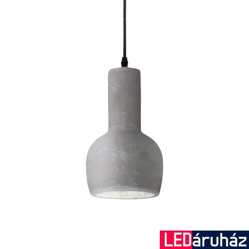 IDEAL LUX OIL-3 beton függesztett lámpa E27 foglalattal, max. 15W, 14 cm átmérő, szürke 110431