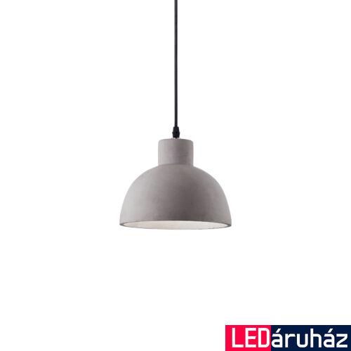 IDEAL LUX OIL-5 beton függesztett lámpa E27 foglalattal, max. 15W, 20,5 cm átmérő, szürke 129082