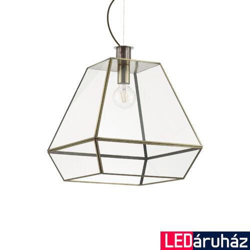 IDEAL LUX ORANGERIE függesztett lámpa E27 foglalattal, max. 60W, 40 cm átmérő, üveg 160085