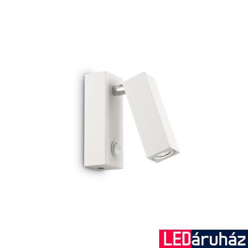 IDEAL LUX PAGE fali lámpa, beépített LED, 3W, 210 lm, 3000K melegfehér, 4x11 cm, fehér 142258