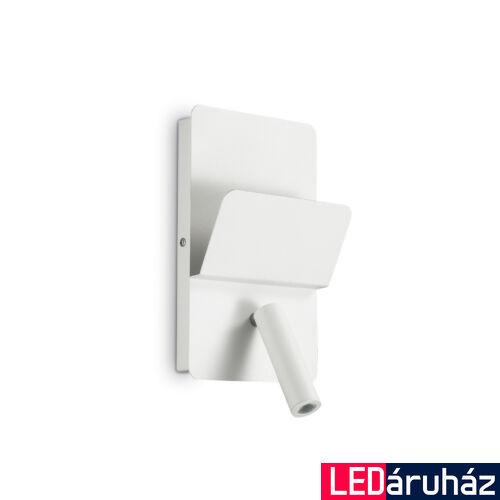 IDEAL LUX READ fali lámpa, beépített LED, 3W, 130 lm, 3000K melegfehér, 25x15 cm, fehér 176536