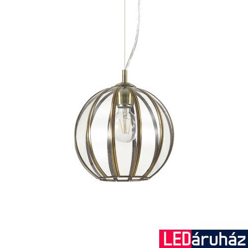 IDEAL LUX RONDO függesztett lámpa E27 foglalattal, max. 60W, 25 cm átmérő, üveg 168951