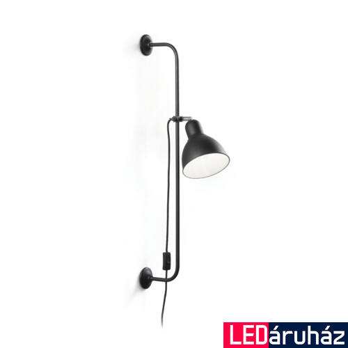 IDEAL LUX SHOWER fali lámpa E27 foglalattal, max. 60W, 89x16 cm, fekete 179643