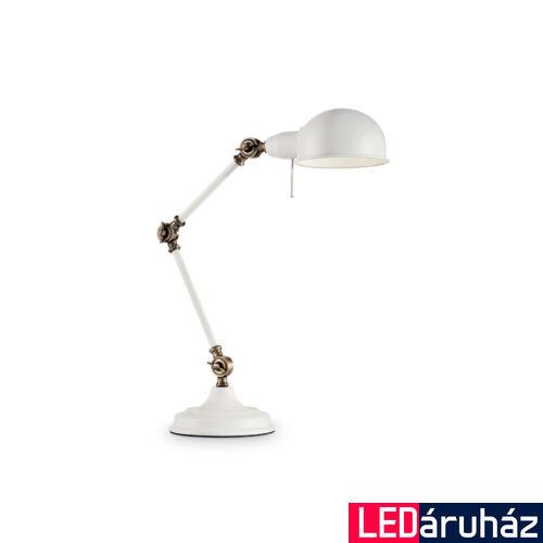 IDEAL LUX TRUMAN asztali lámpa E27 foglalattal, max. 60W, állítható magasság, fehér 145198
