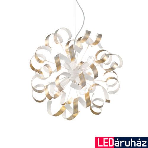 IDEAL LUX VORTEX függesztett lámpa 6 db. E14 foglalattal, max. 6x40W, 53 cm átmérő, arany 101606