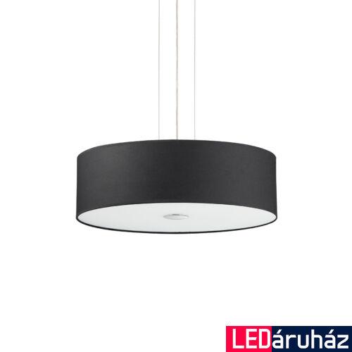 IDEAL LUX WOODY függesztett lámpa 4 db. E27 foglalattal, max. 4x60W, 50 cm átmérő, fekete 122243