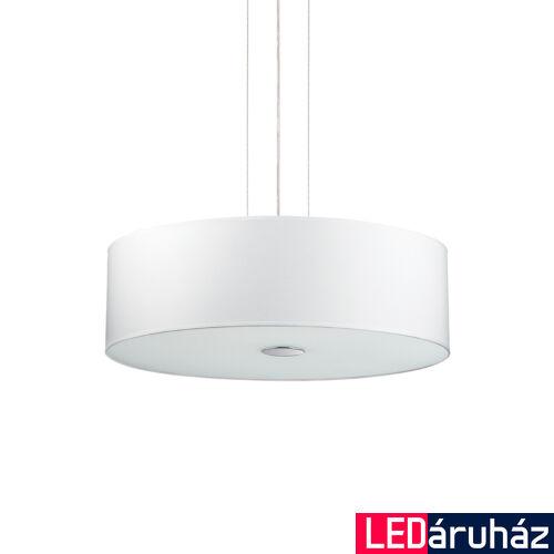 IDEAL LUX WOODY függesztett lámpa 5 db. E27 foglalattal, max. 5x60W, 60 cm átmérő, fehér 103242