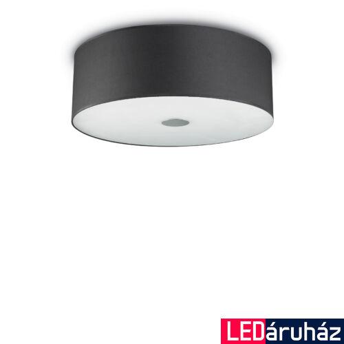IDEAL LUX WOODY mennyezeti lámpa 5 db. E27 foglalattal, max. 5x60W, 60 cm átmérő, fekete 122212